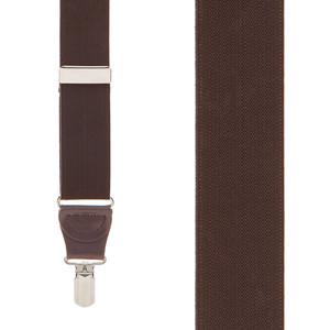1.25-Inch Elastic Y-Back Suspenders in Brown - Front View