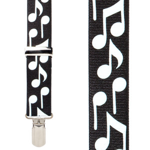 Musical Notes Suspenders - Front View
