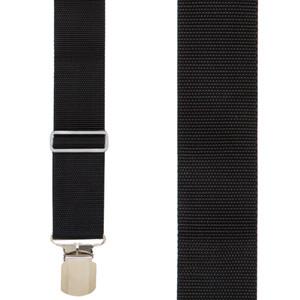 Black Heavy Duty Work Suspenders - Front View