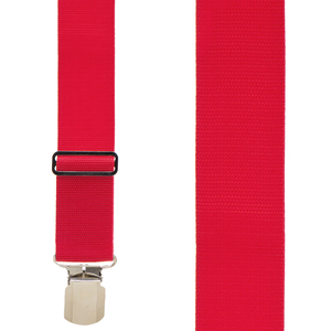 Red Heavy Duty Work Suspenders - Front View