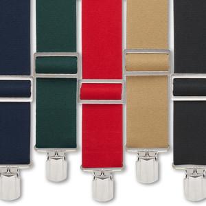 Big & Tall Logger Pin Clip Suspenders - All Colors