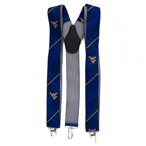 West Virginia University Suspenders - Front View