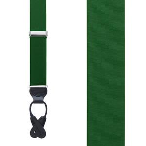 Grosgrain Suspenders in Forest Green - Front View