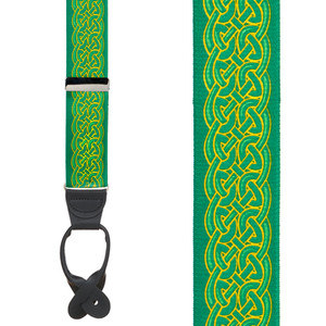 Celtic Scroll Suspenders - Front View