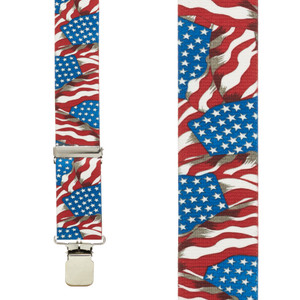Old Glory Suspenders 1.5-Inch Clip Front View