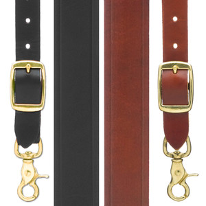 Handcrafted Western Leather Suspenders Trigger Snap - All Colors