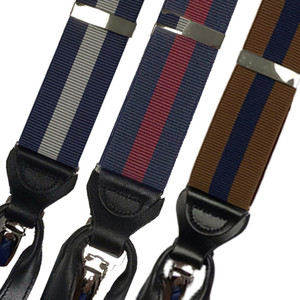 Convertible Stripe Suspenders - Group Picture