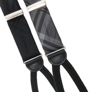 Plaid Silk Suspender - All Colors