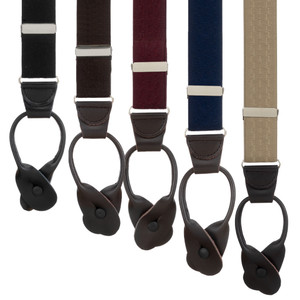 Jacquard New Wave Button Suspenders - All Colors