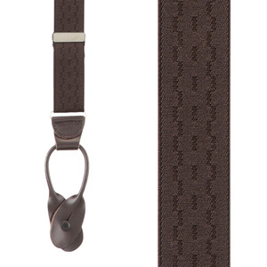 Jacquard New Wave Suspenders in Brown - Front View