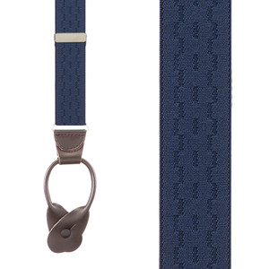 Jacquard Suspenders in Navy - Front View