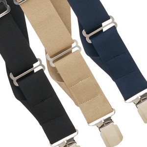 Big & Tall Side Pin Clip Suspenders - All Colors