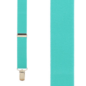 1 Inch Y-back Suspenders in Tiffany - Front View