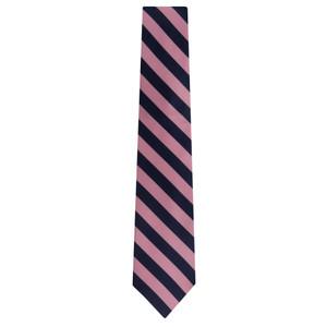 Pink & Navy Striped Necktie