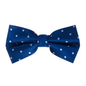Navy & Copenhagen Polka Dot Bow Tie