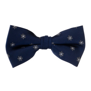 Snowflake on Blue Bow Tie
