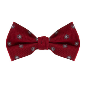 Snowflake Bow Tie in Red