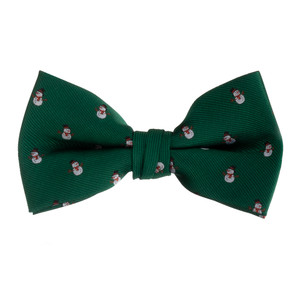Snowman on Green Bow Tie