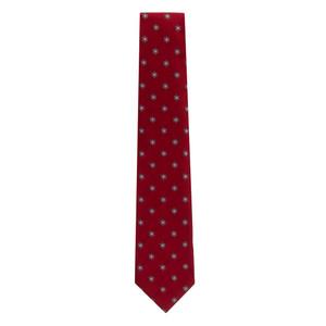 Snowflakes on Red Necktie