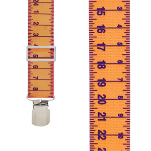 Tape Measure Heavy Duty Work Suspenders - Front View
