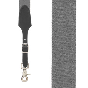 Rugged Comfort Suspenders in Thunder Grey - Front View