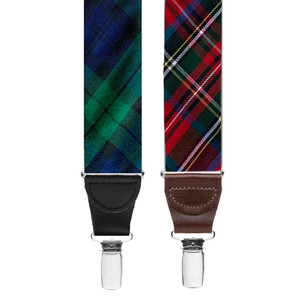 Tartan Plaid Suspenders - Clip - Both Patterns