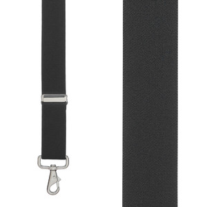 1.5 Inch Wide X-Back Trigger Snap Suspenders in Black - Front View