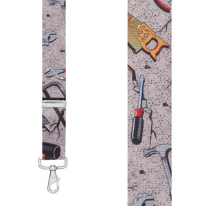 HAND TOOLS 1.5-Inch Wide Trigger Snap Suspenders - Front View