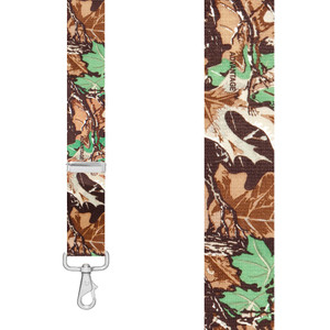 CAMO ADVANTAGE 1.5-Inch Wide Trigger Snap Suspenders - Front View