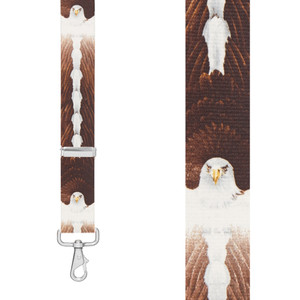 EAGLE 1.5-Inch Wide Trigger Snap Suspenders -Front View