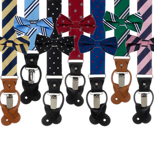 Oxford Kent Bow Tie & Suspender Set - Various Options