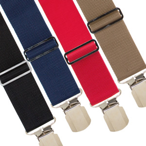 Big & Tall Work Suspenders with Pin Clips - All Colors