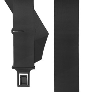 BLACK Undergarment Suspenders - Perry SIDE Belt Clip - Front View