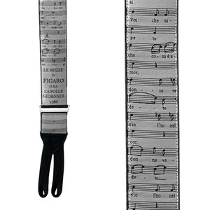 MOZART Limited Edition Handwoven Silk Braces - Front View