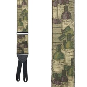 WINE BOTTLES Limited Edition Handwoven Silk Braces