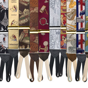 Limited Edition Handwoven Silk Braces - Some Patterns