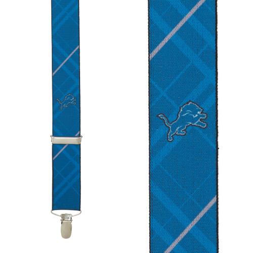 Detroit Lions Suspenders - Front View