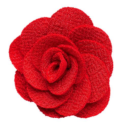 Lapel Flower - RED Crepe
