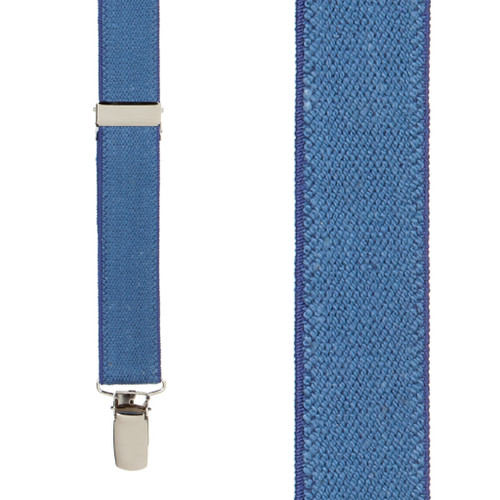Dark Denim Suspenders - 1 Inch Wide - Front View