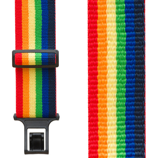 Perry Suspenders - Front View - Rainbow