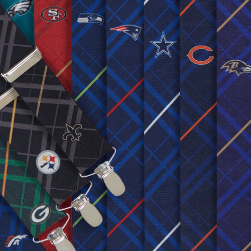 NFL Football Team Suspenders