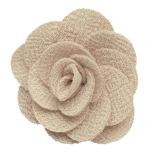 Lapel Flower - SAND Crepe - Front View