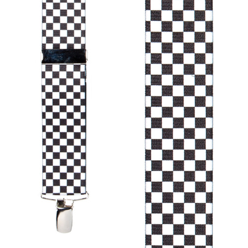 Racing Checks Suspenders - Front View