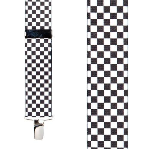 Racing Checks Suspenders - Front View