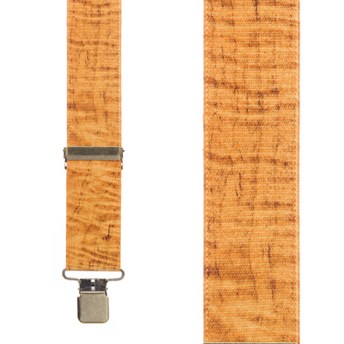 Maple Woodgrain Suspenders - Front View