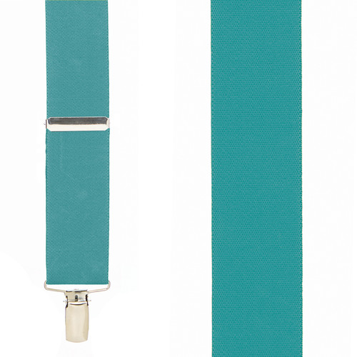 1.5 Inch Wide Suspenders in Teal - Front View