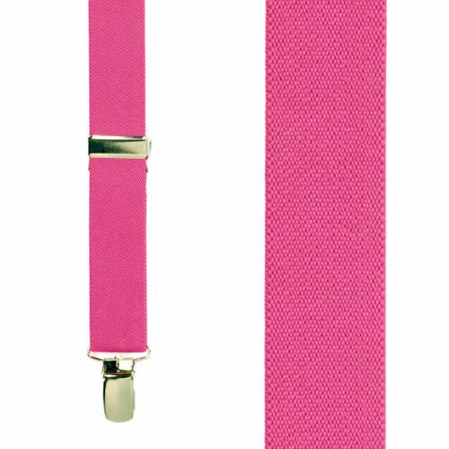 Infant Suspenders in Dark Pink - Front View