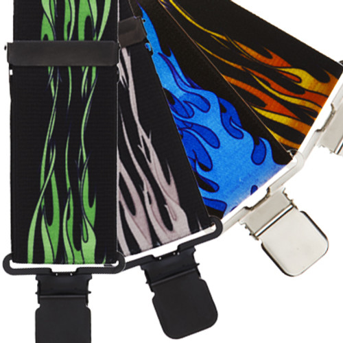 Flames Suspenders - All Colors