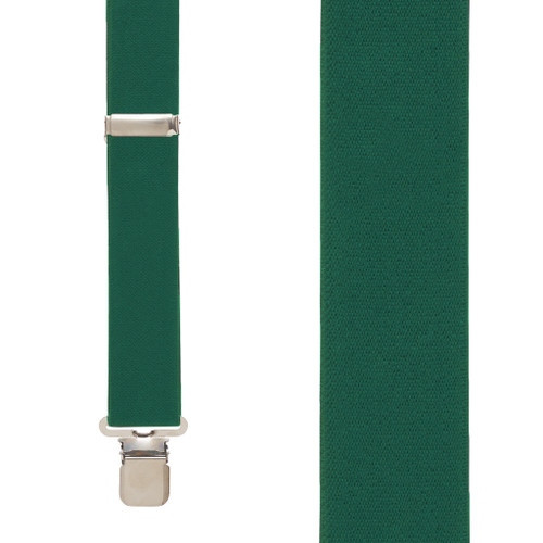 1.5 Inch Wide Suspenders in Hunter - Front View