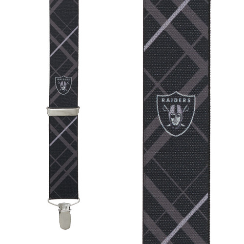 Oakland RAIDERS Football Suspenders - Front View